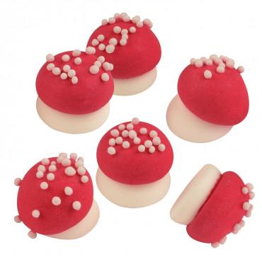 Muchomorki grzybki cukrowe 3D 6szt
