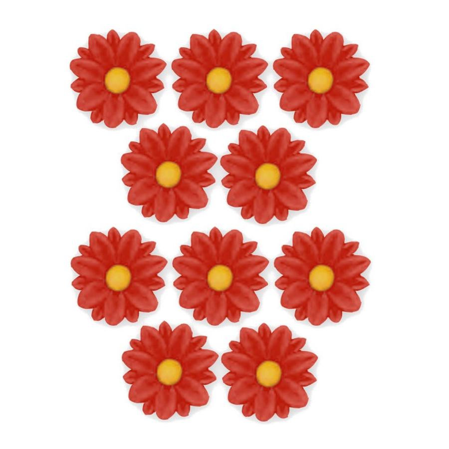 Kwiatki cukrowe SZAFRANKI CZERWONE 10szt