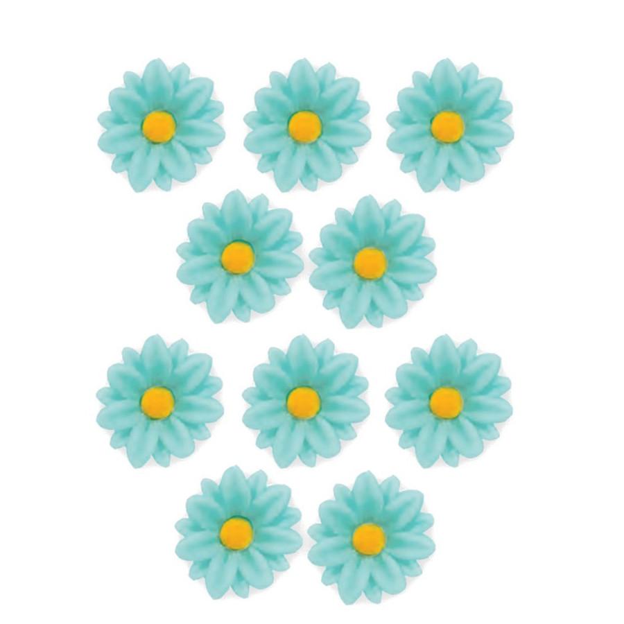 Kwiatki cukrowe SZAFRANKI NIEBIESKIE 10szt
