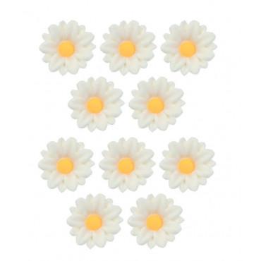 Kwiatki cukrowe SZAFRANKI BIAŁE 10szt