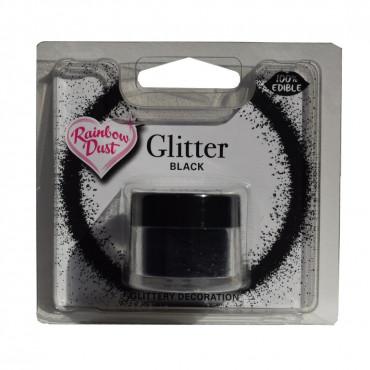 Rainbow Dust Jadalny Brokat do dekoracji wypieków CZARNY BLACK