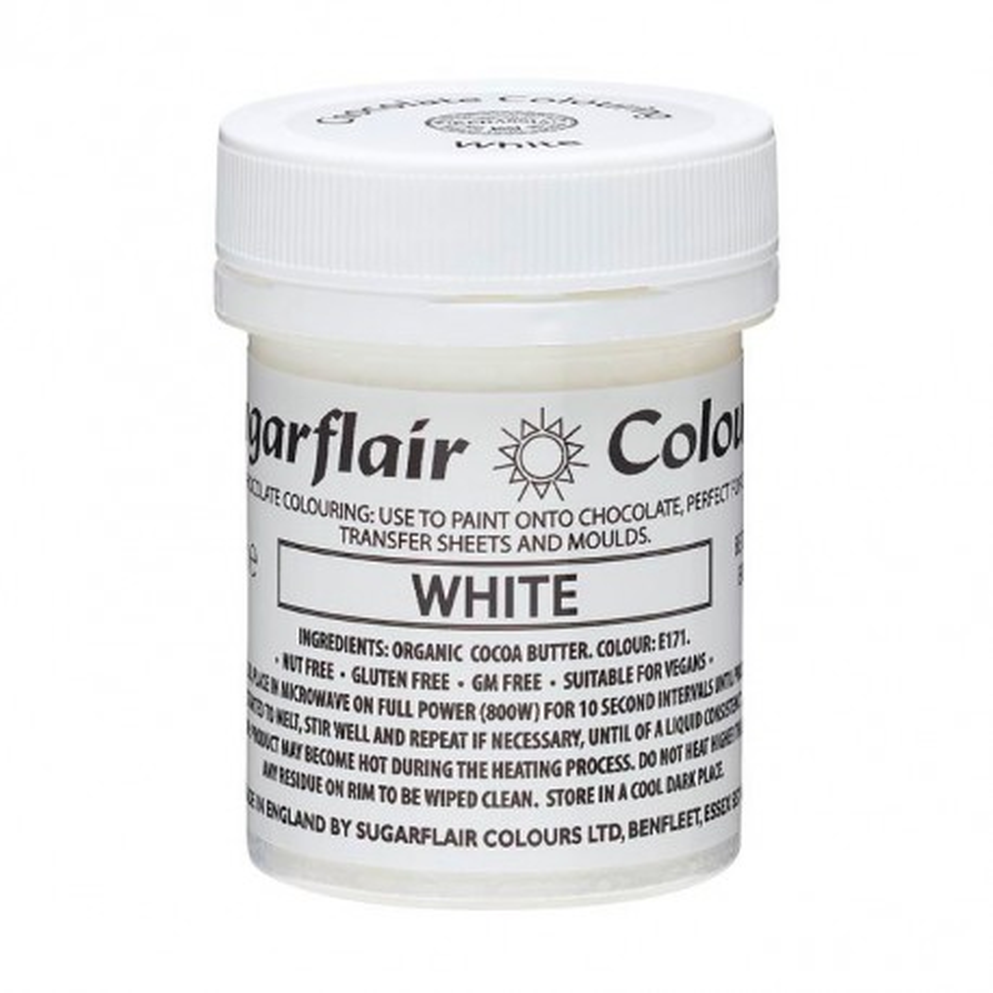 Barwnik do czekolady SUGARFLAIR BIAŁY WHITE
