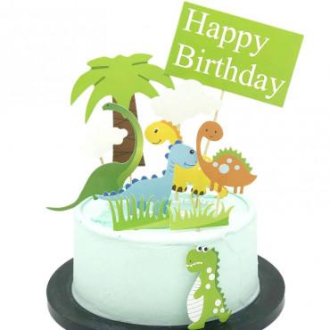 Toppery na tort DINOZAURY HAPPY BIRTHDAY 11SZT 2110