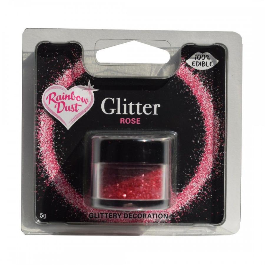 Rainbow Dust Jadalny Brokat do dekoracji wypieków RÓŻOWY ROSE