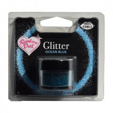 Rainbow Dust Jadalny Brokat do dekoracji wypieków NIEBIESKI OCEAN BLUE