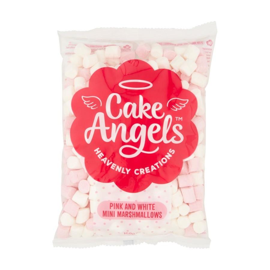 Mini pianki Marshmallow do deserów biało-różowe