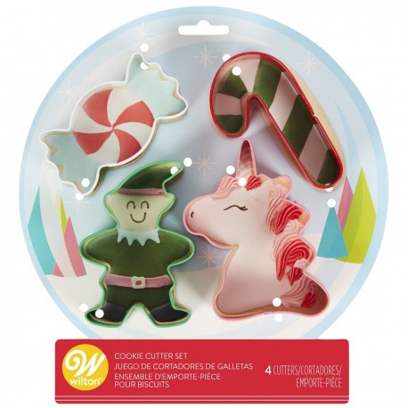 Foremki do ciastek SNOW GLOBE ELF 4szt Wilton