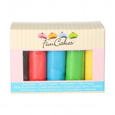Fun Cakes Masa cukrowa lukier plastyczny 5 kolorów 5x100g
