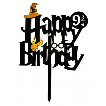 Topper akrylowy na tort urodzinowy Harry Potter 2590