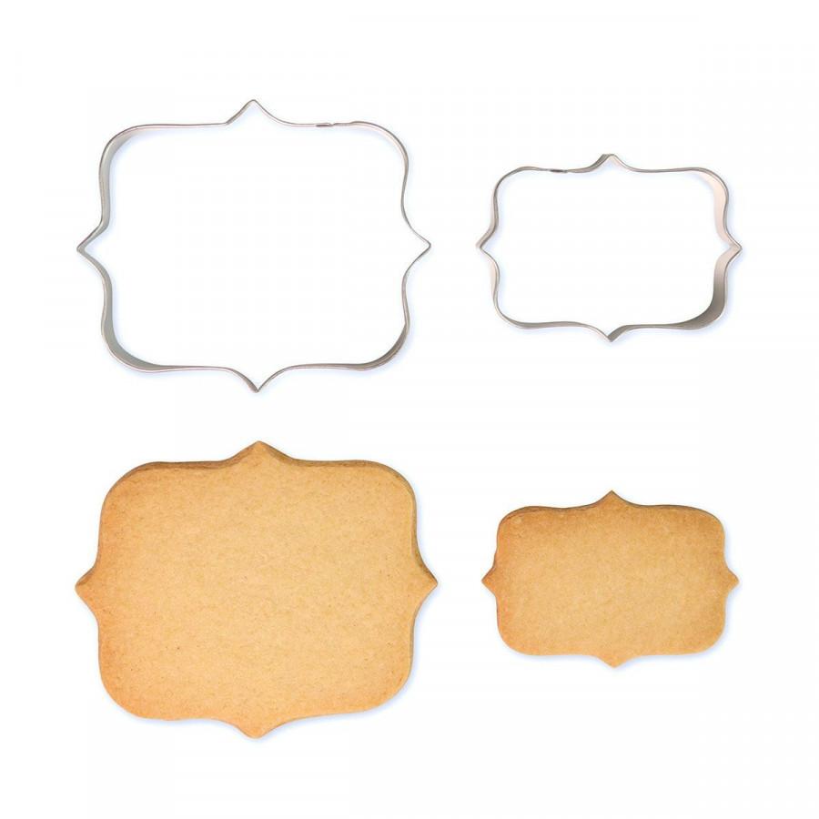 PME Foremki do ciastek masy plakietki etykietki 2szt styl 1