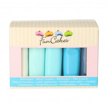 Fun Cakes Masa cukrowa lukier plastyczny 5 kolorów 5x100g BABY BLUE FC97035