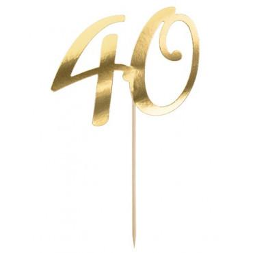 Topper papierowy złoty na tort -40- PD