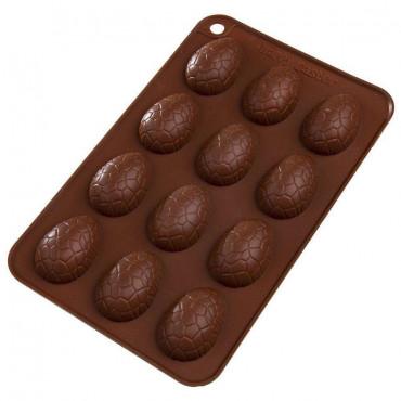 Forma silikonowa do ciastek czekoladek WIELKANOCNE JAJKO 3D 124991-B