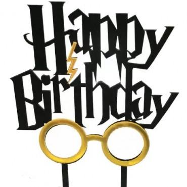 Topper akrylowy Happy Birthday Harry Potter 7999