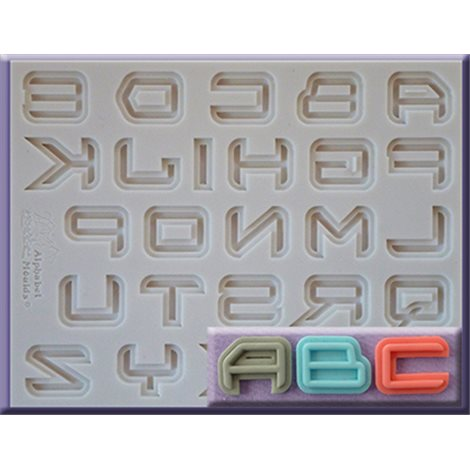 ALPHABET MOULDS FORMA SILIKONOWA ALFABET SCIENCE FICTION FANTASTYKA