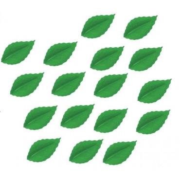 Listki liście waflowe ZIELONE 30szt