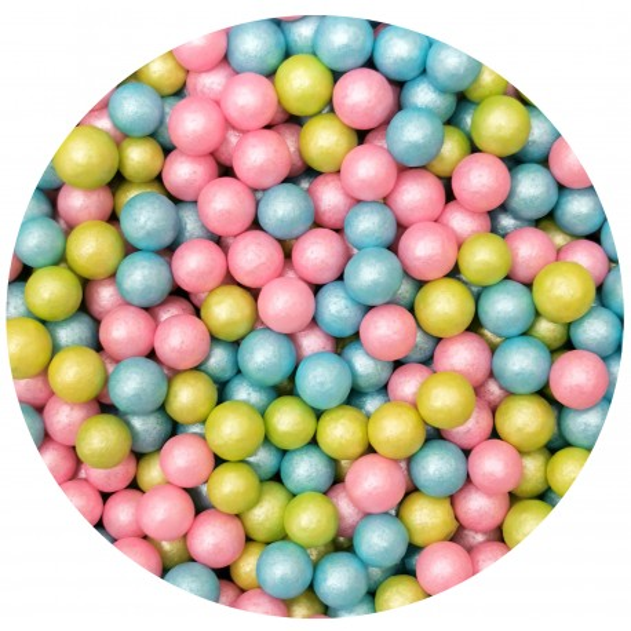 Perełki cukrowe JUMBO PASTELOWY MIX