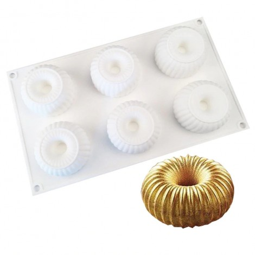 Forma silikonowa do ciastek KOKARDY 3D 6gn