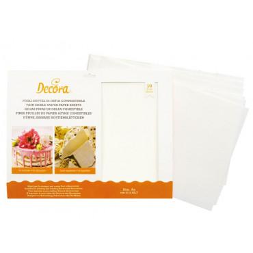 Decora biały papier waflowy A4 do dekoracji 10 sztuk