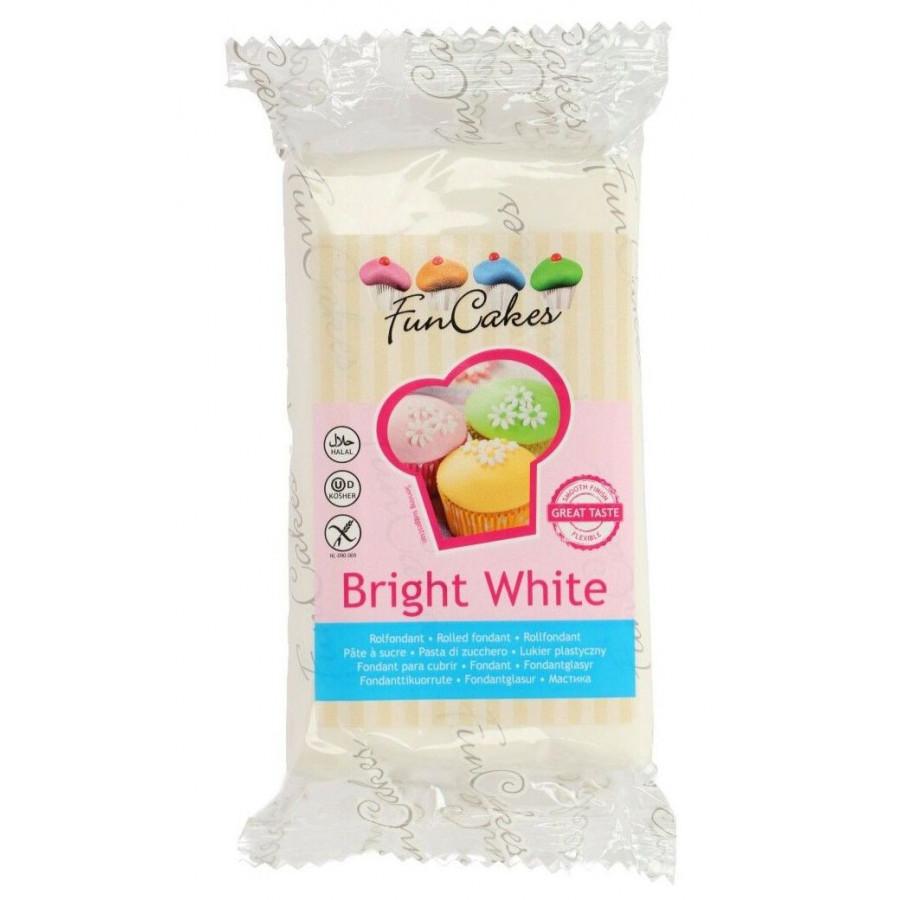 Fun Cakes Masa cukrowa lukier plastyczny BIAŁY 250g