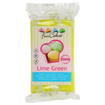 Fun Cakes Masa cukrowa lukier plastyczny LIME GREEN LIMONKA 250g