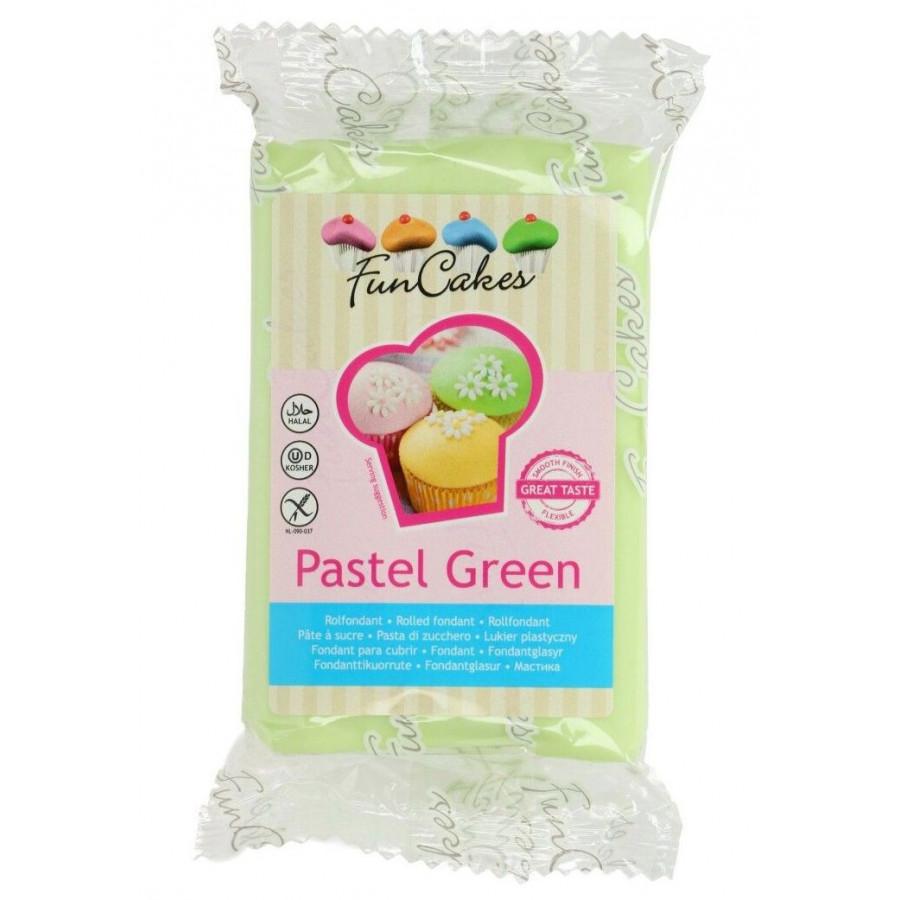 Fun Cakes Masa cukrowa lukier plastyczny PASTEL GREEN 250g
