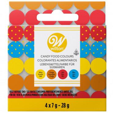 Wilton Zestaw barwników do barwienia czekolady 4x7g 04-0-0082