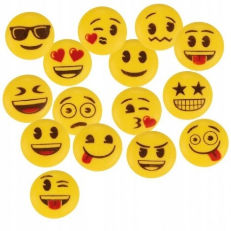 Cukrowe buźki emotki smiley 5szt mix