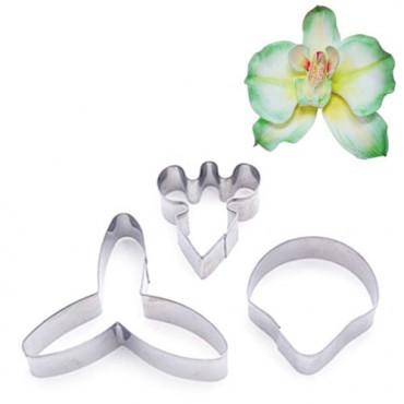 Foremki metalowe do tworzenia kwiatów ORCHIDEA BUTTERFLY 3szt