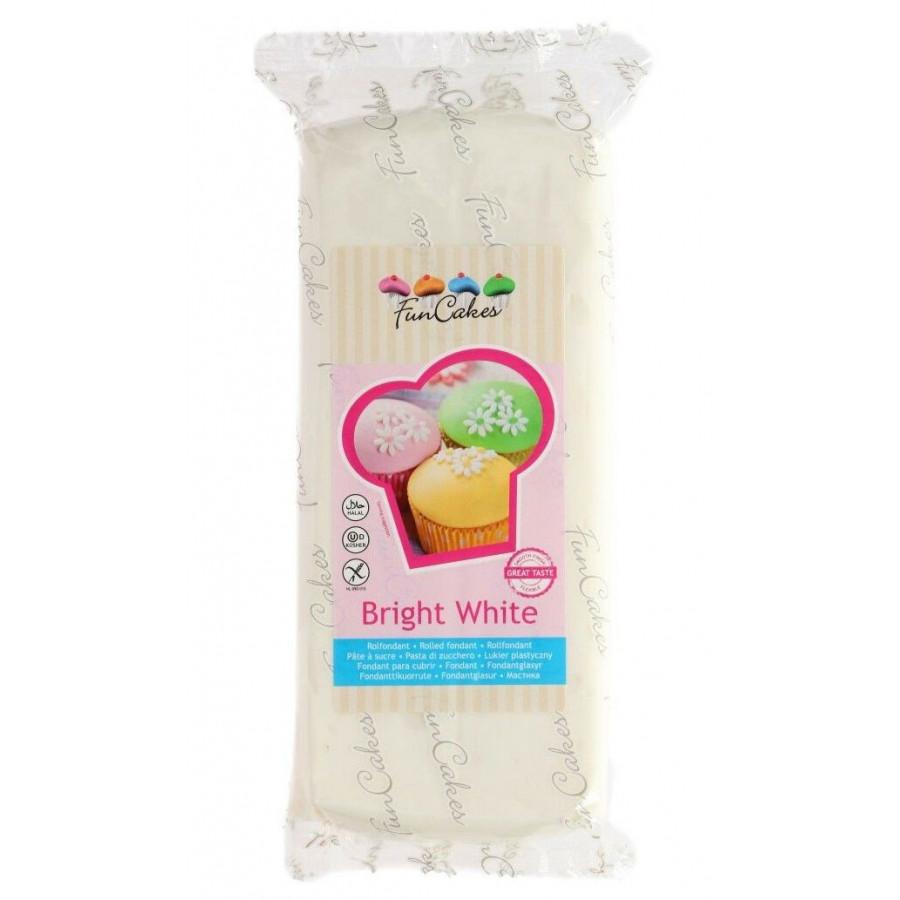 Fun Cakes Masa cukrowa lukier plastyczny BRIGHT WHITE BIAŁY 1KG