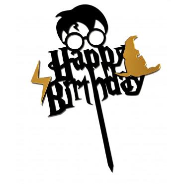 Topper akrylowy na tort urodzinowy Harry Potter 6520