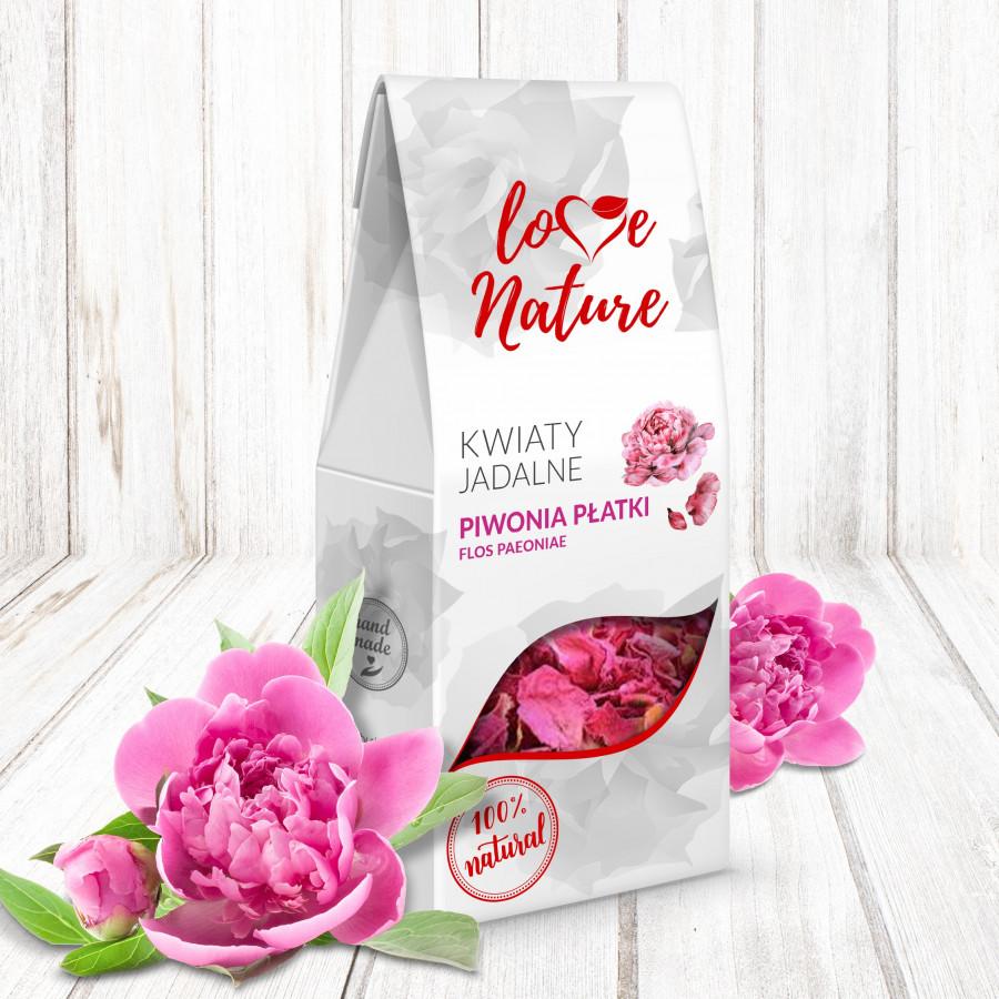 Kwiaty jadalne suszone Love Nature PIWONIA 10g