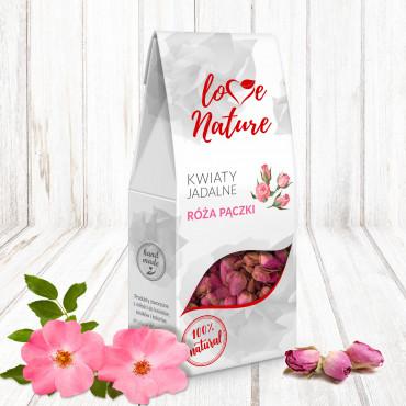 Kwiaty jadalne suszone Love Nature RÓŻA PĄCZKI 20g