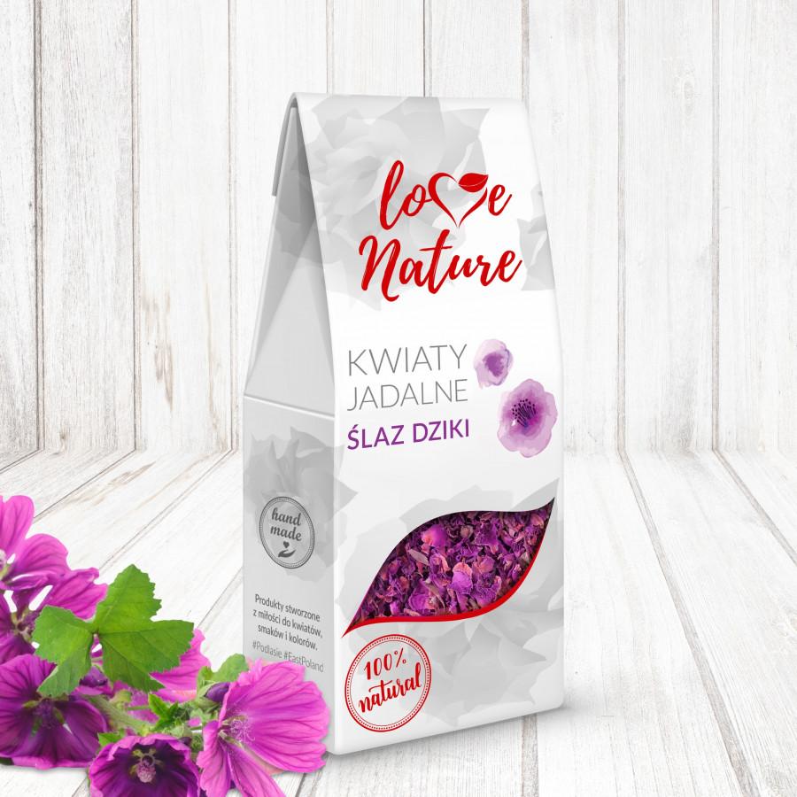 Kwiaty jadalne suszone Love Nature ŚLAZ DZIKI 15g