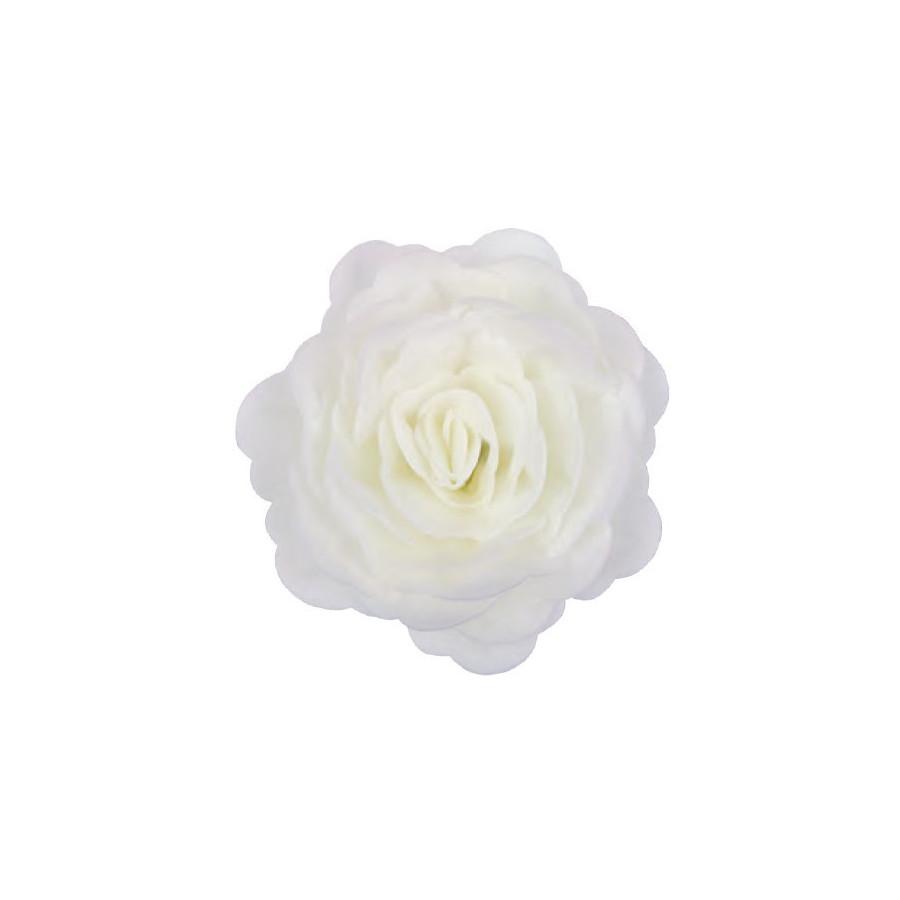 Róża waflowa 3D XXL BIAŁA 12,5cm