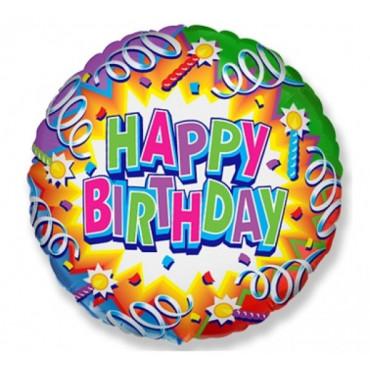 Balon foliowy HAPPY BIRTHDAY 45cm 401574