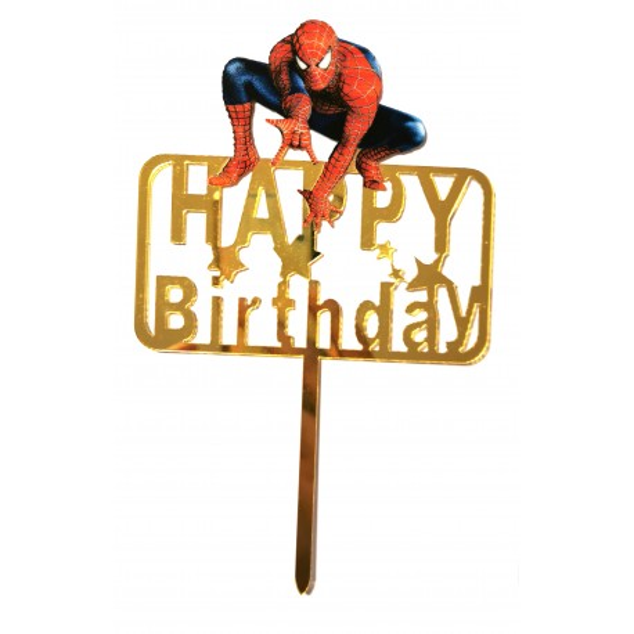 Topper akrylowy na tort urodzinowy Spider Man 6530
