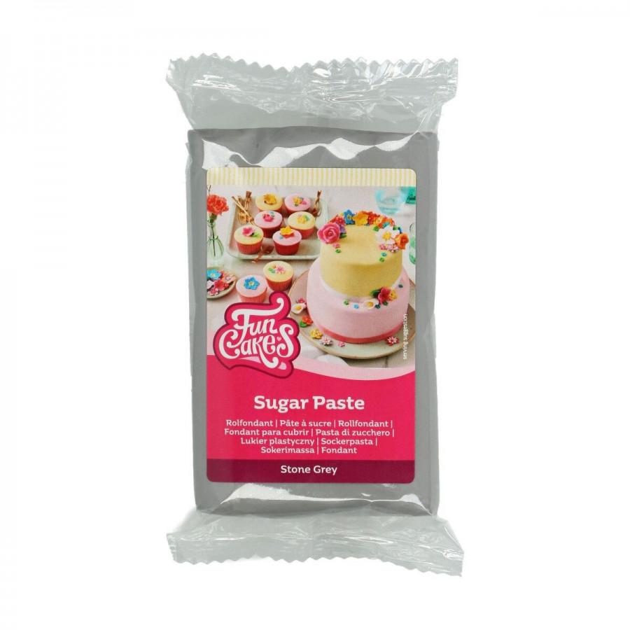 Fun Cakes Masa cukrowa lukier plastyczny SZARY STONE GREY 250g