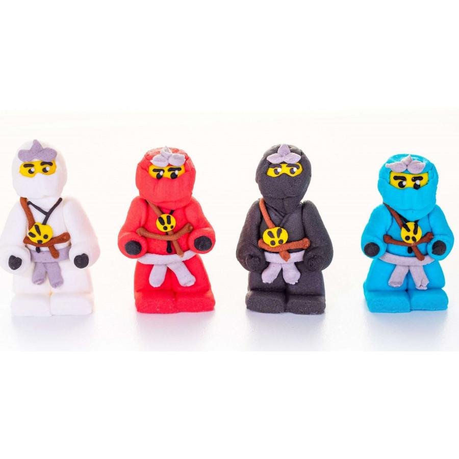 Figurki cukrowe Wojownicy Ninja Ninjago 4szt 1433