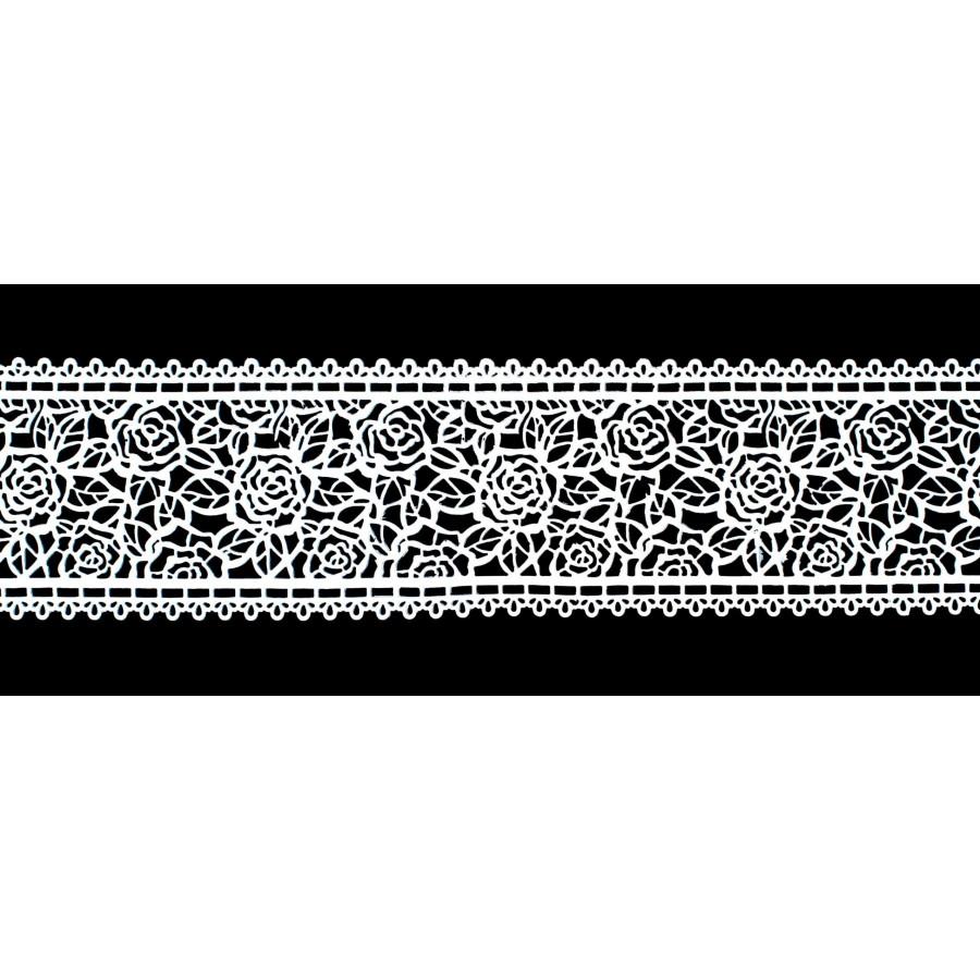 Koronka do dekoracji BIAŁA 07 gotowa do użycia dł.120cm