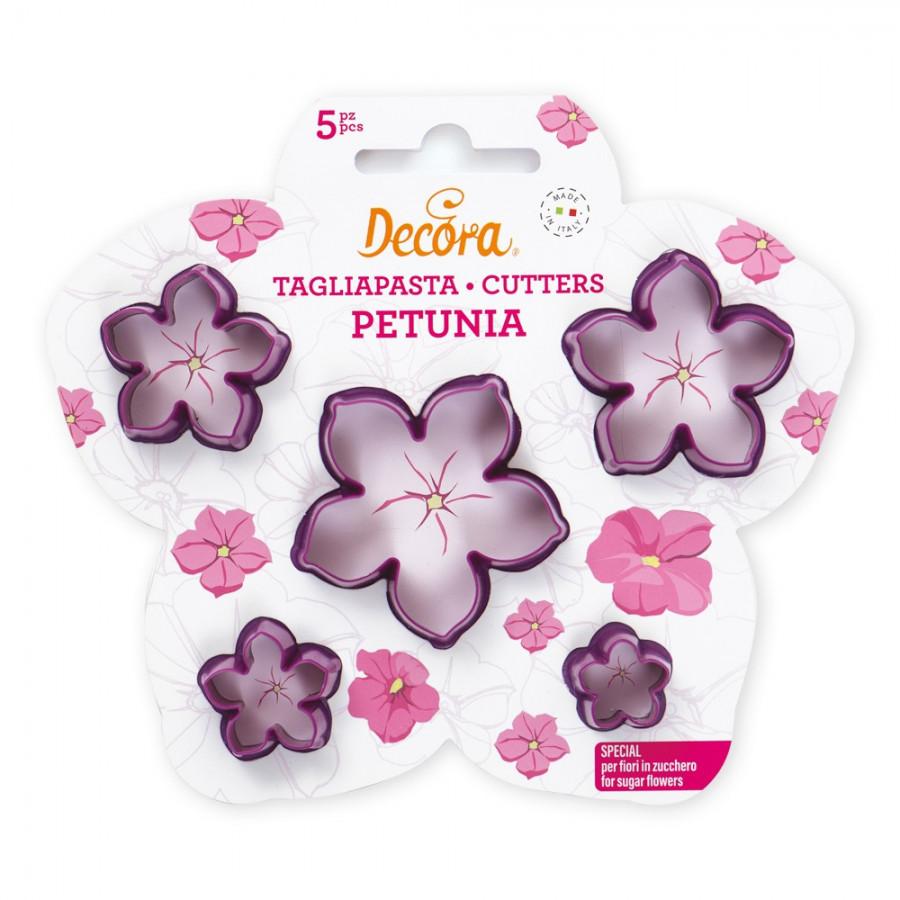 Foremki do tworzenia kwiatków z masy cukrowej Petunia 5szt Decora 0803026