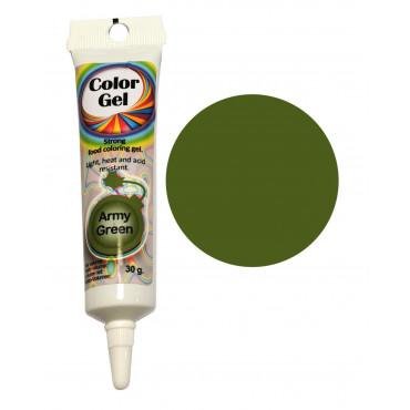 WowKolor Barwnik żelowy koncentrat w tubce ARMY GREEN 30g