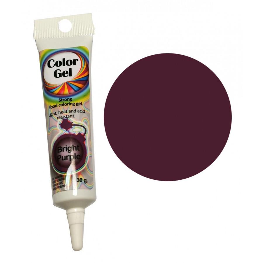 WowKolor Barwnik żelowy koncentrat w tubce PURPUROWY PURPLE 30g