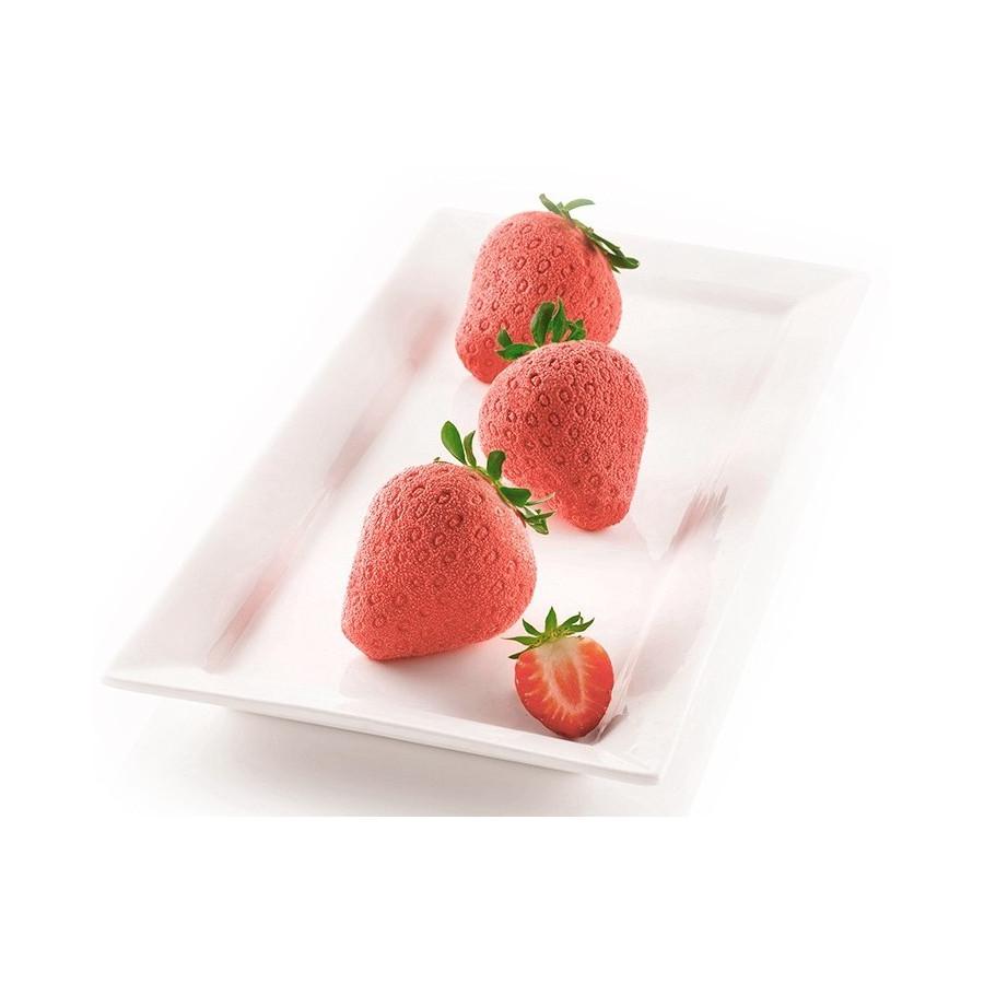 Silikomart forma platynowa do pieczenia ciastek TRUSKAWKA 3D