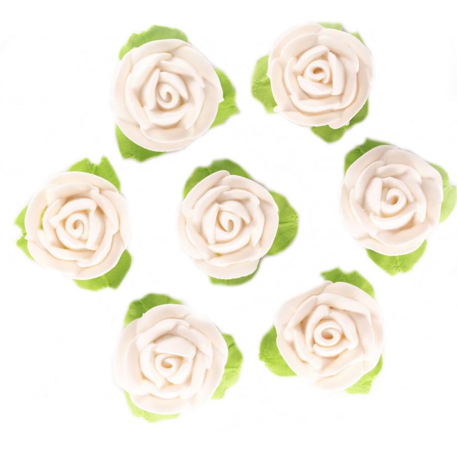 Kwiaty Cukrowe Na Tort Urodzinowy Białe Róże EX0962