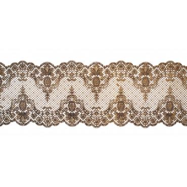 Koronka do dekoracji ANTYCZNE ZŁOTO 03 gotowa do użycia dł.120cm EX3819