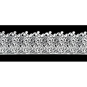 Koronka do dekoracji BIAŁA 17 gotowa do użycia dł.120cm EX2331