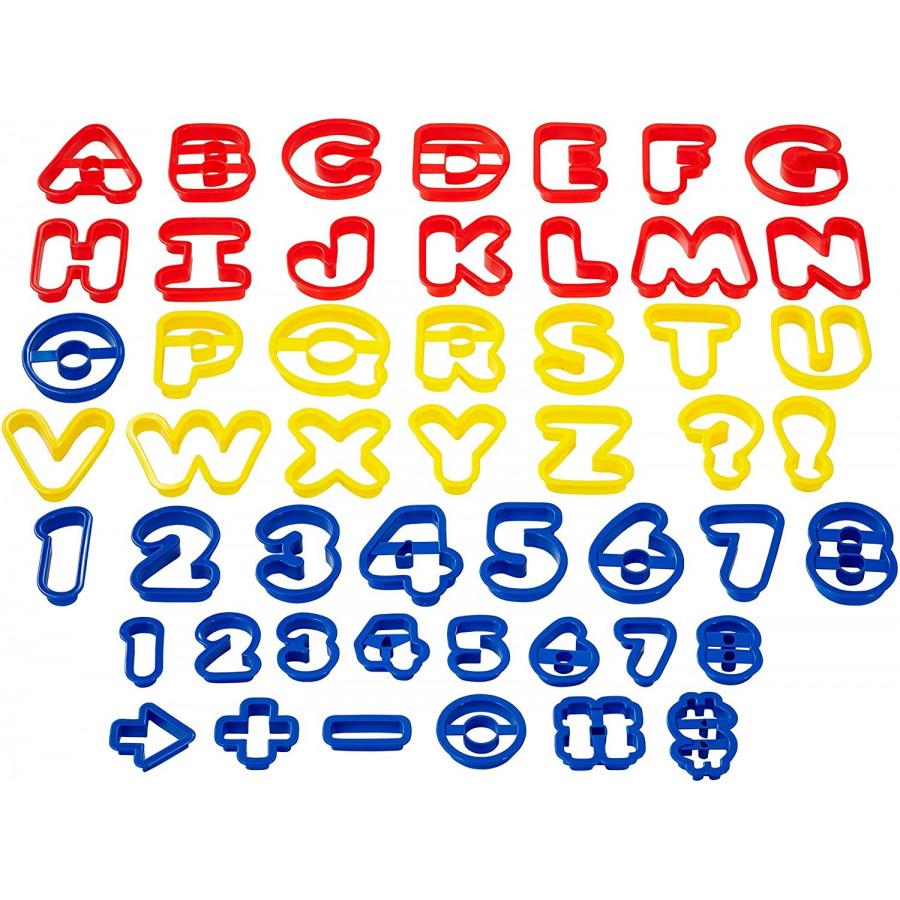Wilton Zestaw foremek Alfabet Litery Cyfry Znaki 50szt 2304-1054