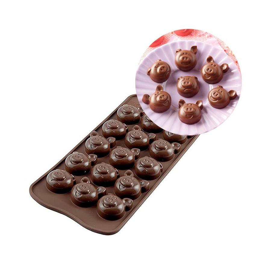 Silikomart Forma silikonowa do czekoladek pralinek ŚWINKI SCG35