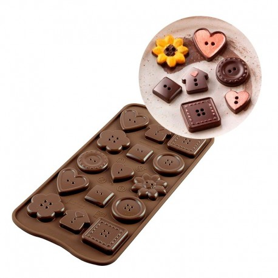 Silikomart Forma silikonowa do czekoladek pralinek GUZIKI SCG029